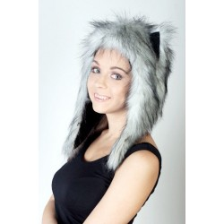 "Beast Hat ""Husky"" C, faux fur, with ears"