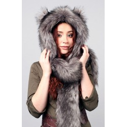 """Beast Hat """"Wolf"""" A, faux fur, with ears"""