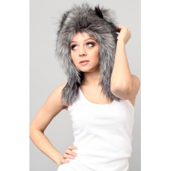 "Beast Hat ""Wolf"" C, faux fur, with ears"
