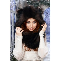 "Beast Hat ""Brown Bear"" A, faux fur, with ears"