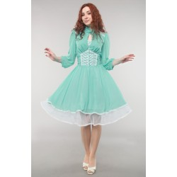 "Dress ""Alice in wonderland"", light green, made of chiffon"