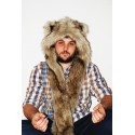 "Beast Hat ""Grizzly "", mod. A, faux fur, animal style, with long ears!"