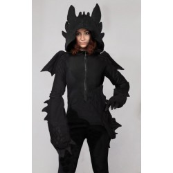 "Hoodie ""Night Fury"", dragon toothless inspired"