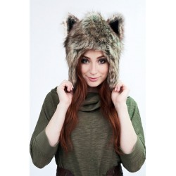 "Beast Hat ""Fox"" D, faux fur, with ears"