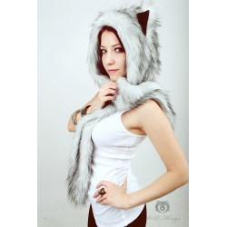 """Husky"" fake fur hat, model A"