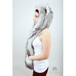 "Beast Hat ""Husky"" B, faux fur, with ears"