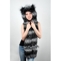 "Beast Hat ""Raccoon"" B, faux fur, with long ears"