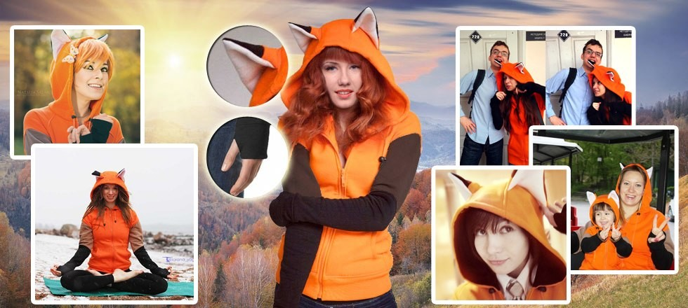 Our fox hoodie's features