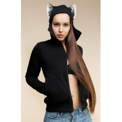 """Beast Hoodie """"Panther"""" with ears"""