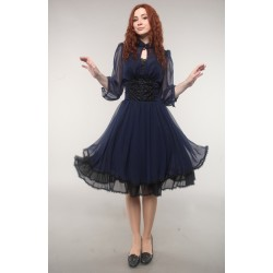 "Dress ""Alice in wonderland"", blue, made of chiffon"